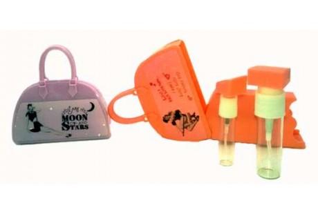 Perfumador bolsito viales rellenables de 4 ml y 10 ml color Morado