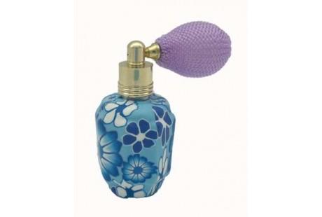 Frasquito Ceramica 15 ml rellenable con perfumador  pera violeta-lila