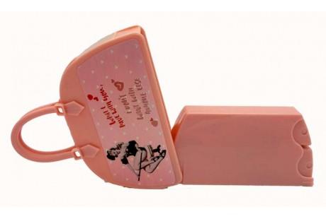 Perfumador bolsito viales rellenables de 4 ml y 10 ml color Rosa