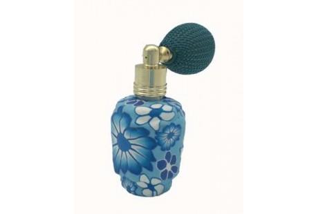Frasquito Ceramica 15 ml rellenable con perfumador pera azules