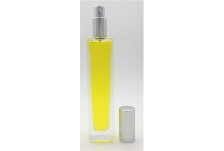 Frasco alto  rellenable  100 ml con pulverizador incluido Plata