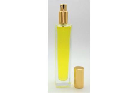Frasco alto rellenable 30 ml con pulverizador incluido  Dorado