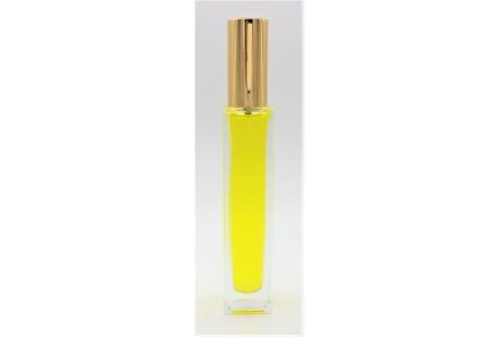 Frasco alto rellenable  100 ml con pulverizador incluido Dorado