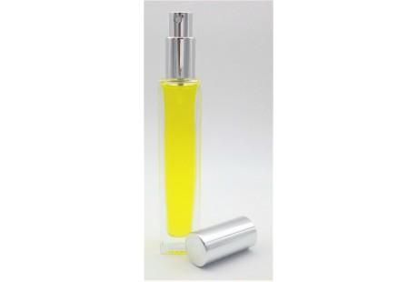 Frasco alto rellenable 50 ml con pulverizador incluido Plata Brillo (CAJA 140 uds PRECIOS ESPECIALES)