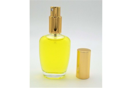 Frasco rellenable  100 ml con pulverizador incluido Dorado
