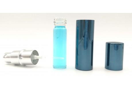 Frasco aluminio de Lujo Azul  rellenable 10 ml