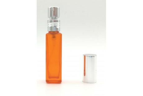 Frasco con Pulverizador Aluminio Naranja rellenable 9 ml vacio