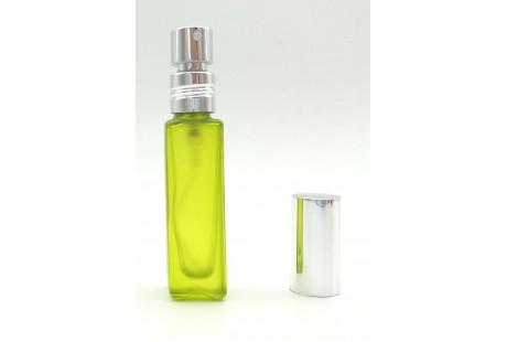 Frasco con Pulverizador Aluminio Verde rellenable   9 ml vacio
